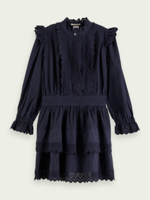 Scotch & Soda Lacy long sleeve mini dress | Girls