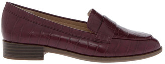 Miss Shop Franklin Burgundy Croc Flat Shoes