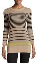 Autumn Cashmere Striped Crewneck Sweater