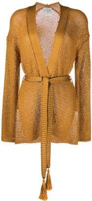 Forte Forte Open Front Belted Cardigan