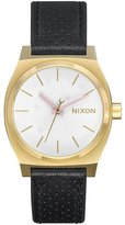 Nixon Medium Time Teller Leather Watch