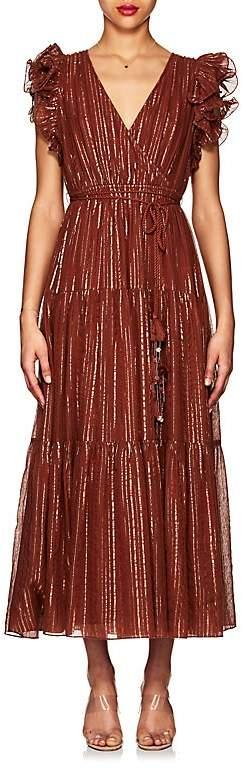Ulla Johnson Women's Liliana Metallic-Striped Cotton-Blend Maxi Dress