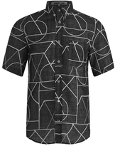 McQ by Alexander McQueen Men's Short Sleeve Shields 01 Angle All Shirt Black Angle