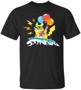 Emily Gift Shop Surfing Flying Rocking Pikachu Pokemon Go Tee Funny Gamer T-Shirt-Emily's Design Unisex Adult's