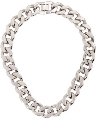 Fallon Armure XL Curb Silver-tone Chain Necklace
