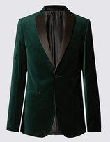 Marks And Spencer Single Breasted 1 Button Velvet Jacket