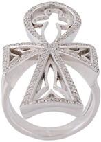 Thumbnail for your product : Loree Rodkin Diamond Maltese Cross Ring