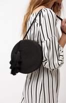 La Hearts Mini Round Crossbody Bag