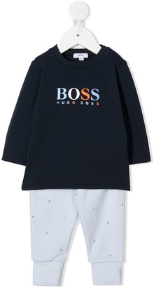 Boss Kidswear Logo-Print Two-Piece Set