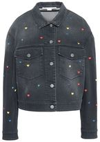 Stella McCartney denim heart embroidery jacket