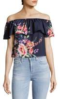 Yumi Kim Floral Off-Shoulder Top