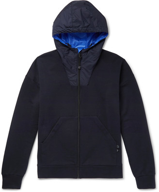 Prada Nylon-Trimmed Loopback Cotton-Jersey Zip-Up Hoodie