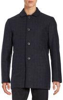Selected Plaid Wool-Blend Coat