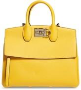Salvatore Ferragamo Studio Calfskin Leather Top Handle Bag