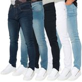Loyalty And Faith Mens Skinny Stretch Fit Fade Wash Denim Classic Jeans Trousers