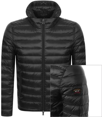 Paul & Shark Paul And Shark Hooded Quilted Jacket Black