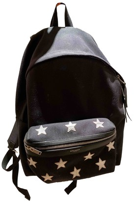 Saint Laurent Black Cloth Backpacks