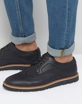 Pull&bear Brogues With Rubber Sole In Black