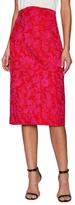 Zac Posen Party Jacquard Midi Skirt