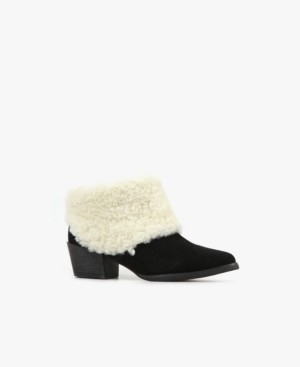 All Black Snowcap Bootie Women's Shoes