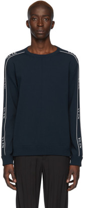 Valentino Navy Logo Tape Sweater
