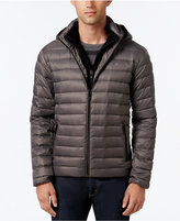 Calvin Klein Men's Packable Hooded with Inner Zip-Up Collar Puffer Coat