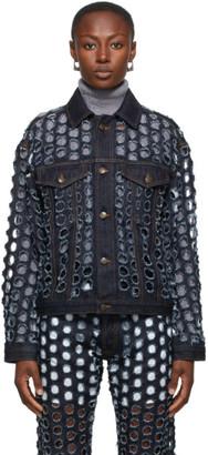 Maison Margiela Blue Denim Perforated Jacket