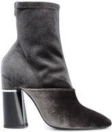 3.1 Phillip Lim chunky heel boots - women - Leather/Velvet - 36