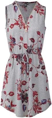 Dorothy Perkins Womens *Izabel London Grey Zip Front Shift Dress