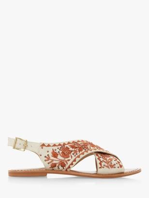 Bertie Luchia Canvas Embellished Sandals