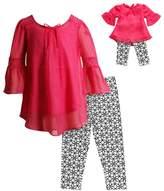 Dollie & Me Girls 4-14 Tunic Top & Geometric Print Capri Leggings Set