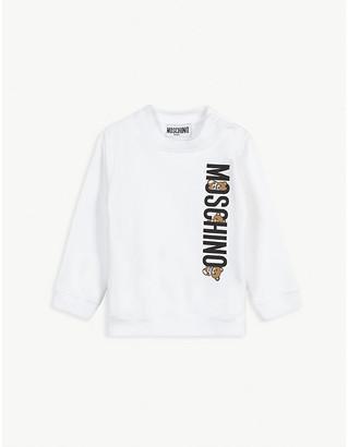 Moschino Logo print cotton sweatshirt 3-36 months
