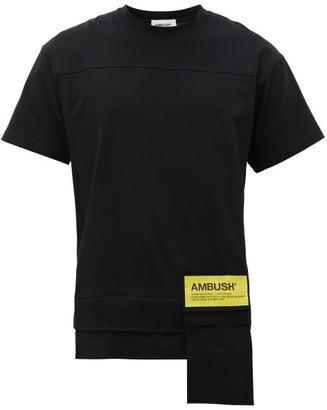 Ambush Waist-pocket Logo-print Cotton-jersey T-shirt - Black