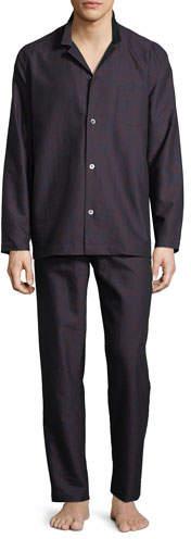 Hanro Select Paisley-Print Long Pajama Set