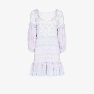 LoveShackFancy Ensley floral print smocked mini dress