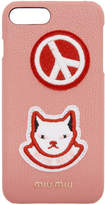 Miu Miu Pink Cat Patch iPhone 7 Plus Case