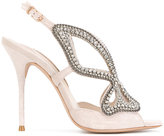 Sophia Webster embellished butterfly sandals - women - Chamois Leather/Leather - 37