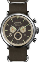 Shinola 47mm Runwell Chronograph Watch, Gray