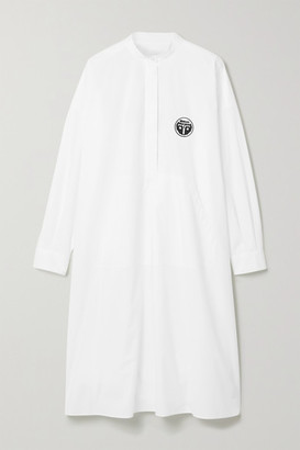 MM6 MAISON MARGIELA Oversized Appliqued Printed Cotton-poplin Dress - White