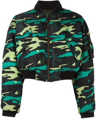 Jean Paul Gaultier Pre-Owned army bomber jacket