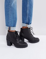 London Rebel Heeled Lace Up Boot