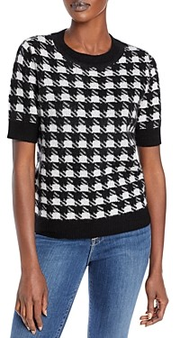 C by Bloomingdale's Houndstooth Cashmere Sweater - 100% Exclusive