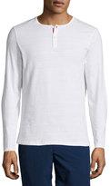 Orlebar Brown Long-Sleeve Henley Shirt, White