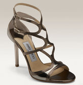 'Dasha' Metallic Leather Sandal