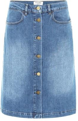 Frame Vintage Boot stretch-denim skirt