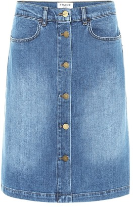 Frame Vintage Boot stretch-denim skirt