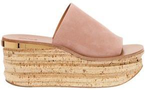 Chloé Camille Suede Platform Wedge Sandals