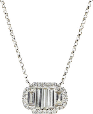 Marissa Diamonds Baguette Diamond Pendant Necklace