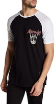 Religion Short Raglan Sleeve Graphic Rocker Tee