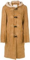 MACKINTOSH hooded shearling coat